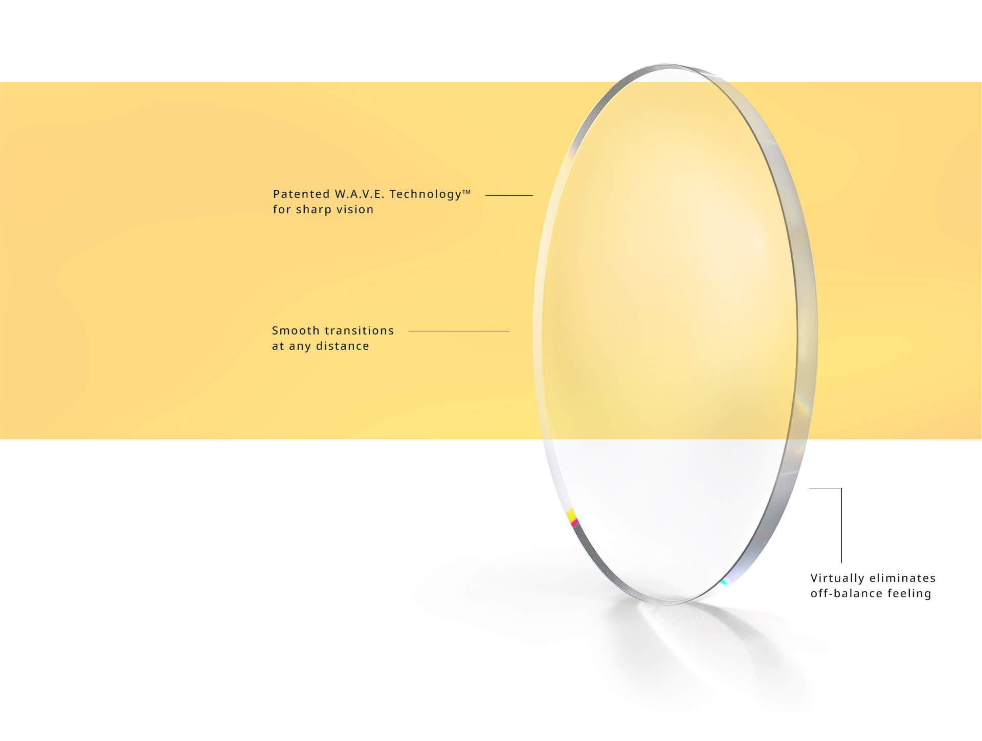 Varilux lenses use patented W.A.V.E technology to provide sharp vision and smooth transitions at any distance. Varilux lense virtually eliminates that off-balance feeling.