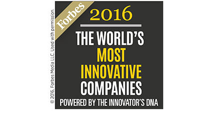 Forbes 2016 The World's Most Innovative Companies Powered by the Innovator's DNA